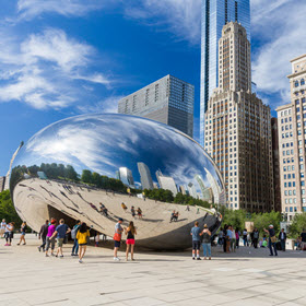 Chicago Cloud Gate photo for post