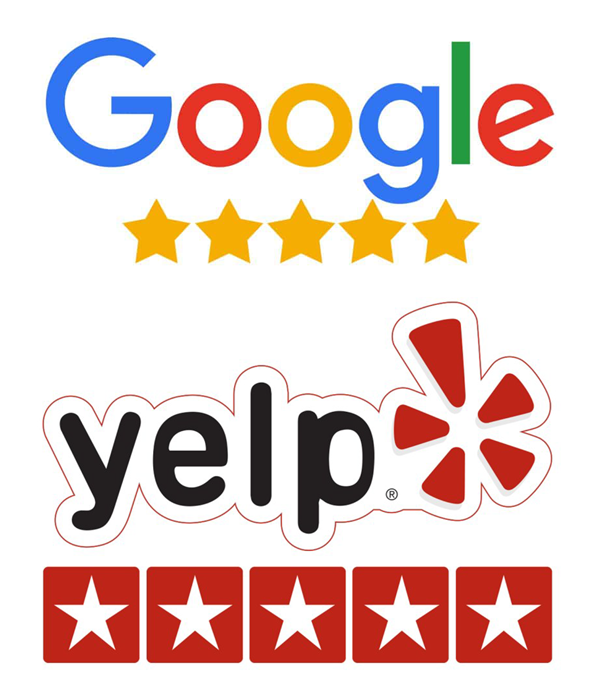 Google Yelp review logos for brand relevant email