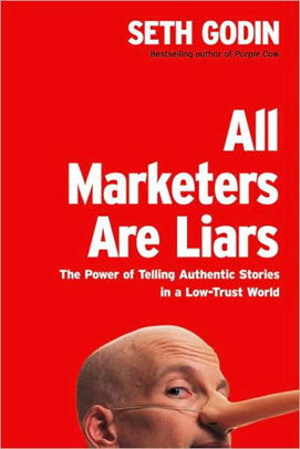 Seth Godin book for brand story post